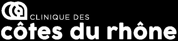 Logo blanc Clinique des Côtes du Rhone Noalys - VF